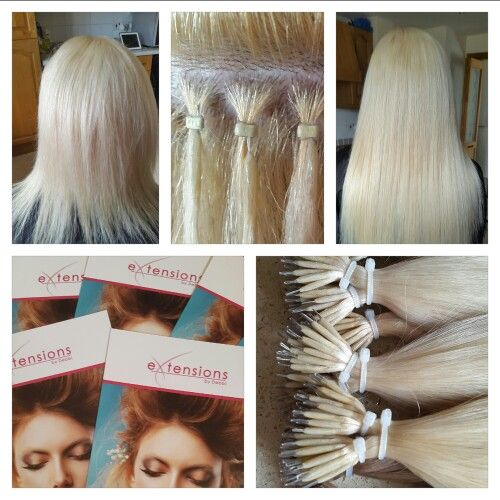 Nano Ring Hair Extensions in platinum blonde Call us to book you consultation 07860 934484
