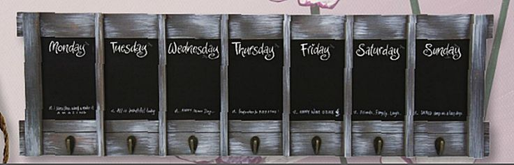 The Gecko Shack - Weekly / Day Planner Blackboard Key Holder Hook Display Stone White Wash, $59.00 (http://www.geckoshack.com.au/weekly-day-planner-blackboard-key-holder-hook-display-stone-white-wash/)