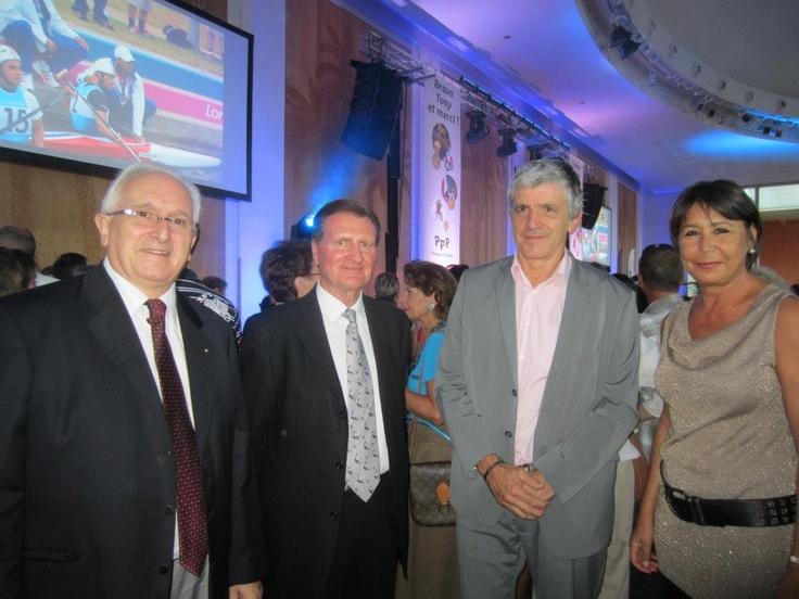 Soirée Tony Estanguet, rehaussée par la présence de Mr le Maire d' Oloron Bernard