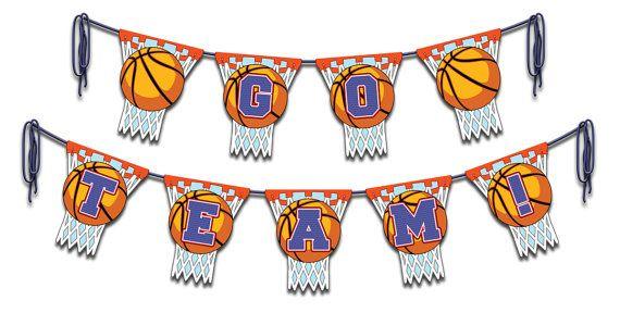 Basketball Team Banner Instant Download by Printamajig on Etsy