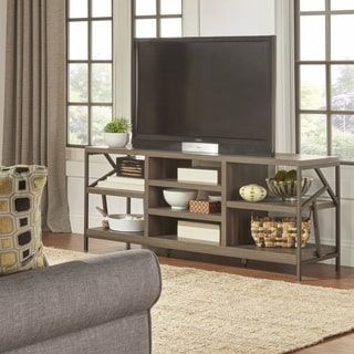 Shop For Lincoln Metal Accent Storage Media Console By INSPIRE Q Classic.  Get Free Shipping