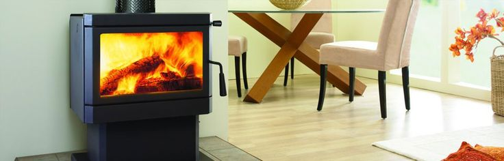 Regency Wood Heater: CARDINIA MEDIUM WOOD FREESTANDING - Designed to heat small to medium sized living areas, the simple modern lines of the Cardinia suit a wide range of decors. This radiant heater from Regency Wood Heaters Heating boasts several features, including: a large glass viewing area, the ability to heat approximately 150-170m2, and front-to-side log placement. #Heating #WoodFire #Freestanding #Regency #HearthHouse
