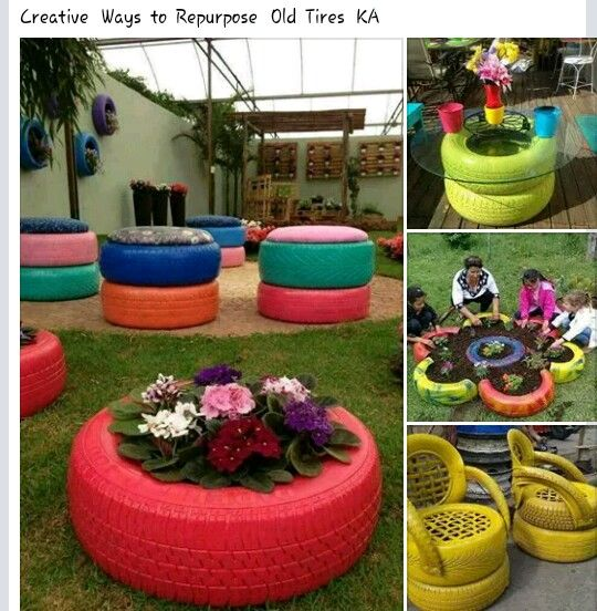 how to use old tyres for decor pam 39 s ideas for the house