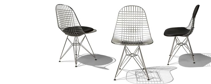 With or without a bikini - eames wire chairs