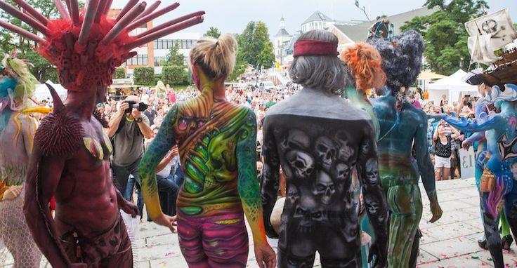Bodypainting beim 3. Heringsdorfer Bodypainting Festival 2015
