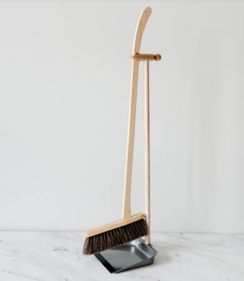 Dust Pan And Brush Set Brush Set Wood Metal