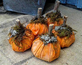 Primitiva zucca - ciotola riempitivi - zucca fatti a mano - caduta Decor - primitivo arredamento - decorazione primitiva caduta - le zucche di Halloween - Faap