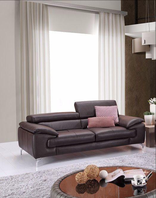 J&M Furniture A973 Premium Coffee Leather Sofa SKU179061111 For $1439
