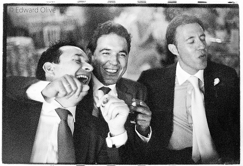 Men smoking cigars in wedding - Edward Olive - timeless wedding photos for brides with class & taste