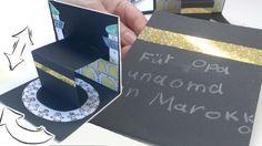 Die Klappkarte von Sarah mit einem Festgruß für die Familie in der Ferne Superbe idée pour expliquer le tawaf aux enfants.
