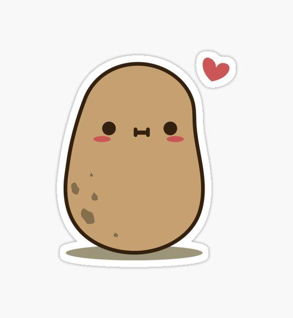 Cute Potato In Love By Clgtart Cute Stickers Cool Stickers Cute Laptop Stickers