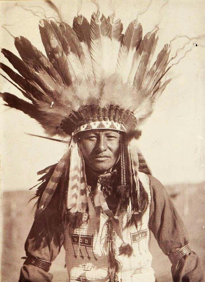 A Sioux man. Early 1900s. Pine Ridge Reservation, South Dakota.                                                                                                                                                                                 More