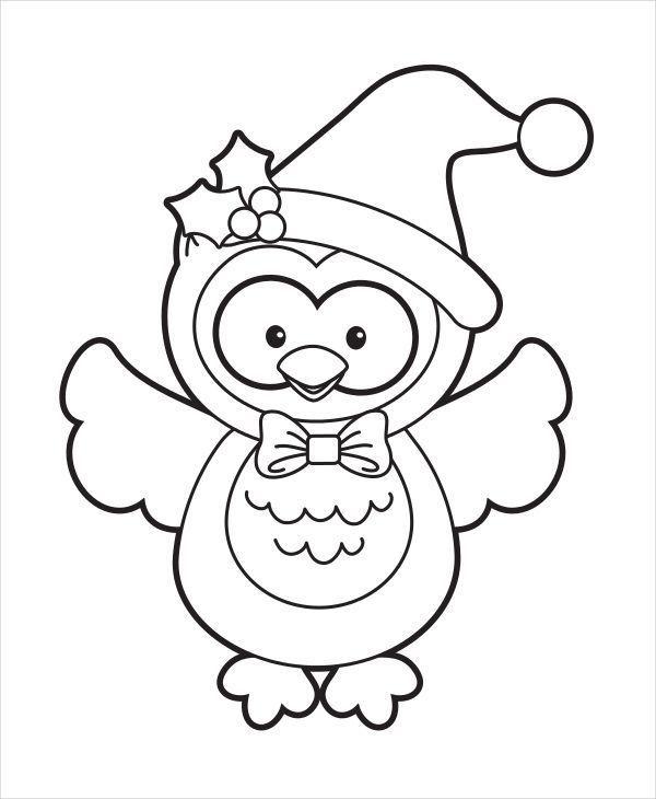 ausmalbilder eule weihnachten - tiffanylovesbooks