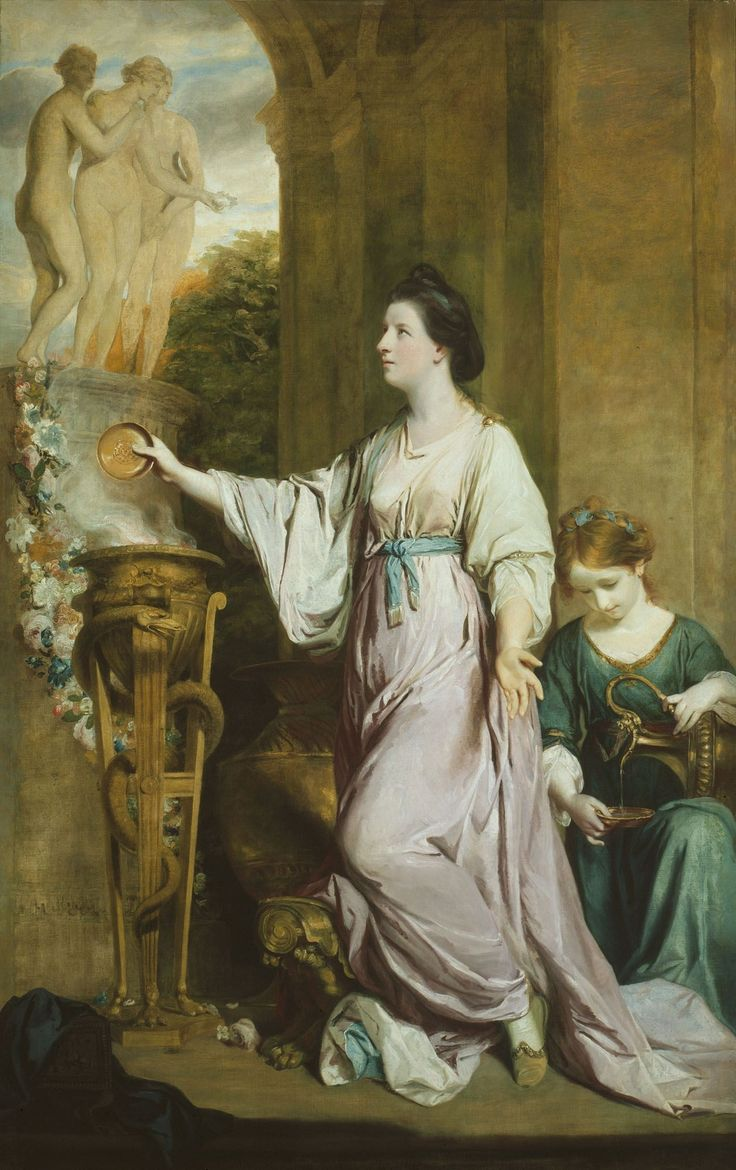 Rococo english lady sarah bunbury sacrificing to the graces 1765 joshua reynolds genre portrait find this pin and more on art history