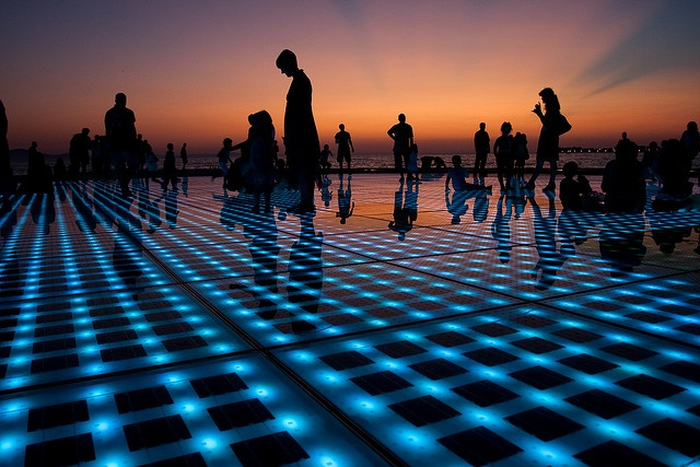 Thinking first dates. Remember this? Solar Powered Salutation to the Sun, Zadar, Croatia