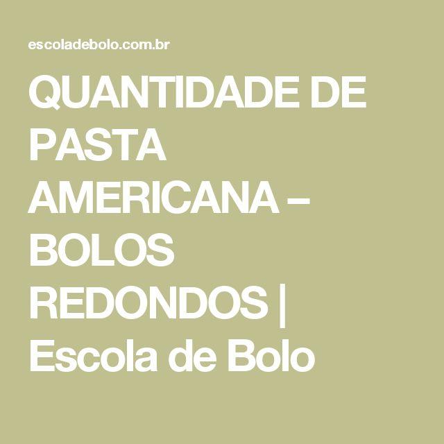 QUANTIDADE DE PASTA AMERICANA – BOLOS REDONDOS | Escola de Bolo