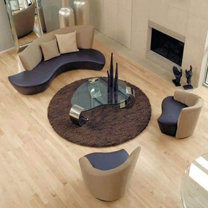 Office Furniture Design With Brown Sofa Pillow And Glass Table And Fireplace - pictures, photos, images