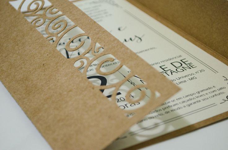 Convite de casamento rustico (rustic wedding invitation)