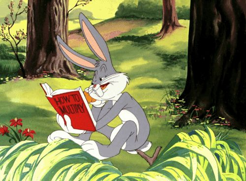gameraboy: Bugs Bunny readingHow to Multiply. Easter Yeggs...