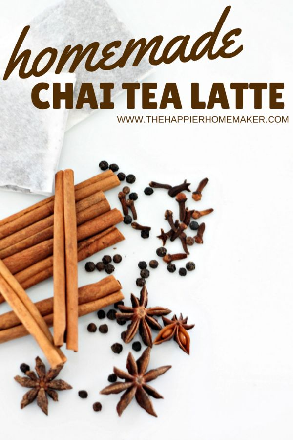 Homemade Chai Tea Latte recipe-this is so good! My husband keeps asking me to make it again!