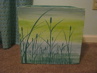 Painted wooden box.