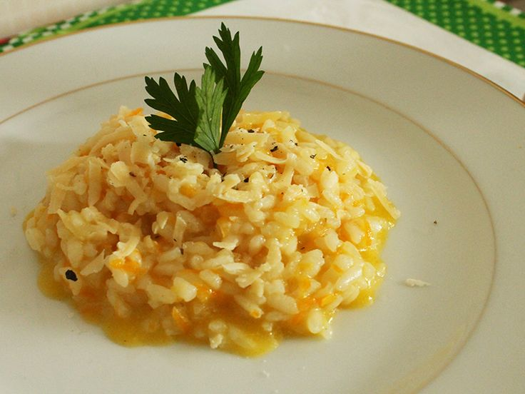 Risoto de Cenoura. Uma versão diferente e saudável do tradicional risoto. Mais em http://gordelicias.biz.