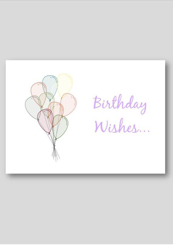 Printable birthday card digital greetings by PinkMilkshakeDigiArt, £2.50