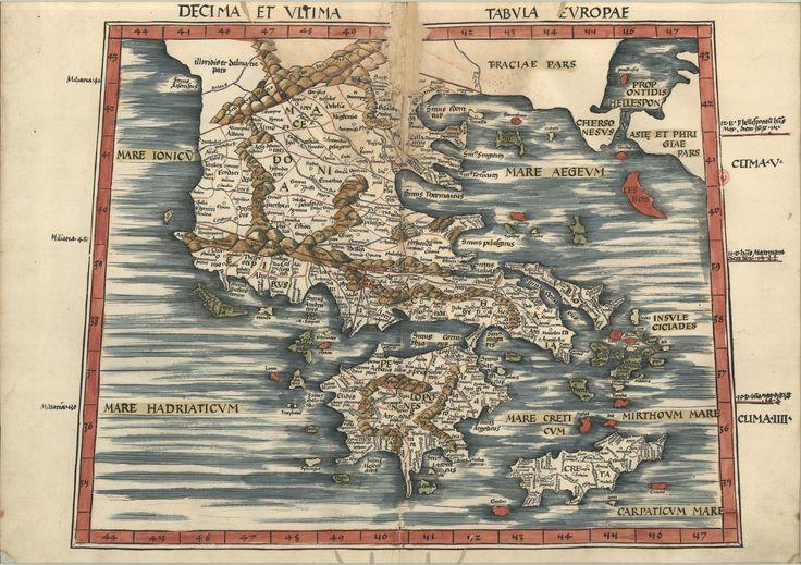 "C.A. 152 V. - 0198 - Ptolomeu (ca 90-ca168) – ""Claudii Ptolemaei viri Alexandrini Mathematicae…"".   Argentinen : Joannis Schotti, 1513.  BNP C.A. 152 V."