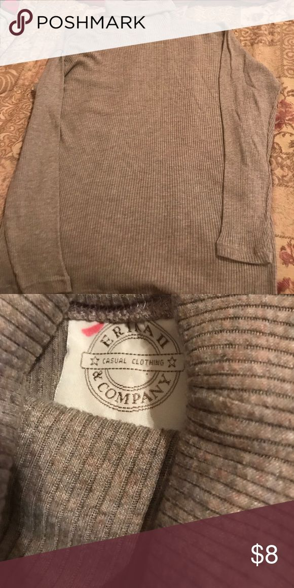 Women's turtleneck sweater Women's tan turtleneck sweater. Not sure of the size. Erika and Co Tops