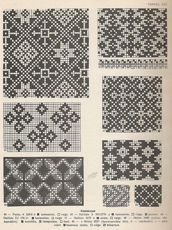 Holy smokes, these Estonian patterns are exactly what I'm looking for, for my next set of mittens