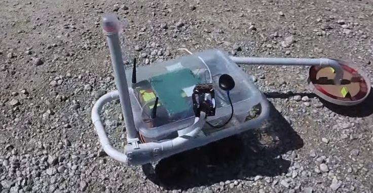 Fabrica tu propio robot detector de metales gracias a Raspberry Pi - http://www.hwlibre.com/fabrica-propio-robot-detector-metales-gracias-raspberry-pi/