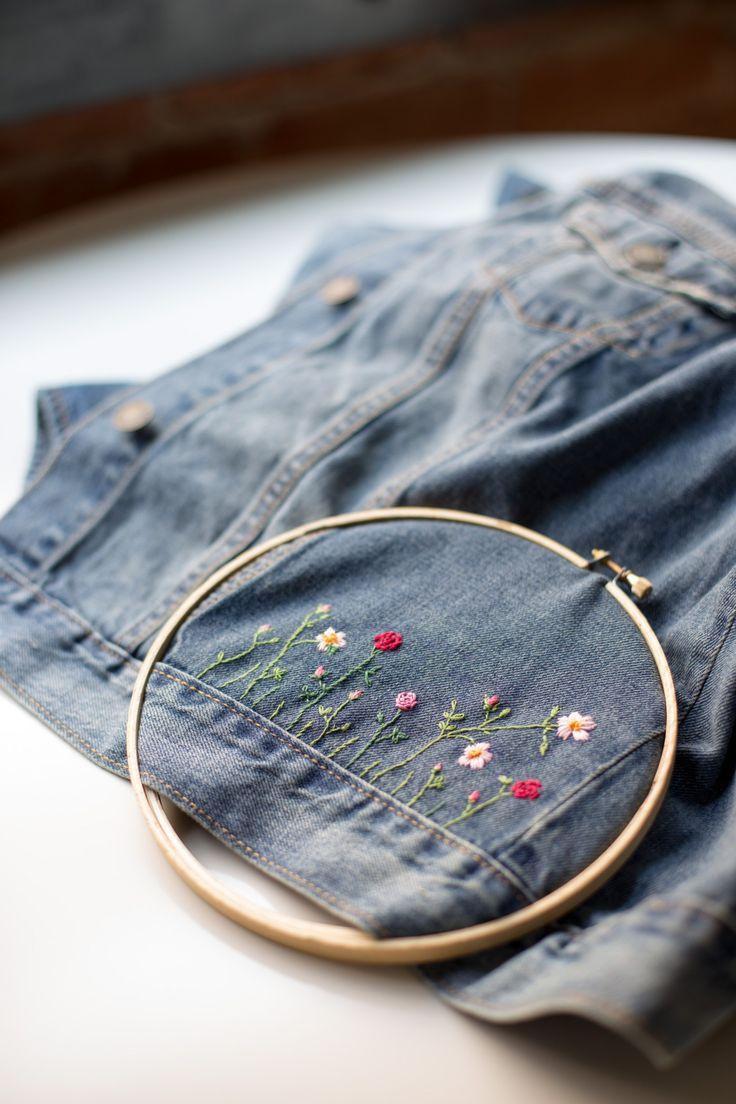 DIY: embroidered jean jacket