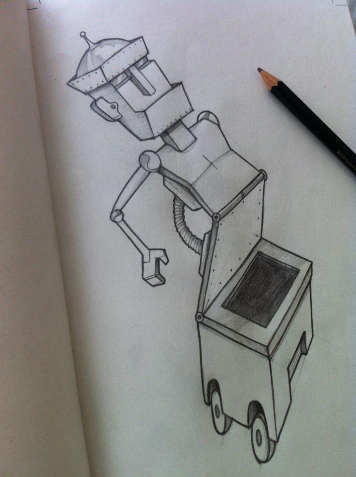 Drawing a desplegable robot
