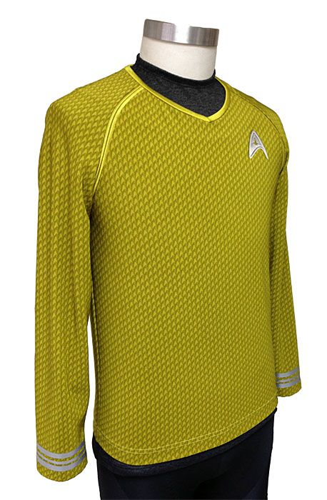 These spandex tunic shirts are the highest-quality licensed Star Trek costumes available. You'll be ready to join Starfleet with these uniforms, made from the same patterns as screen-used costume pieces.