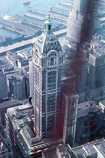 Singer Building, 149 Broadway, 612 ft, 1908  This is the tallest building ever peacefully demolished (in 1968 to make way for One Liberty Plaza).