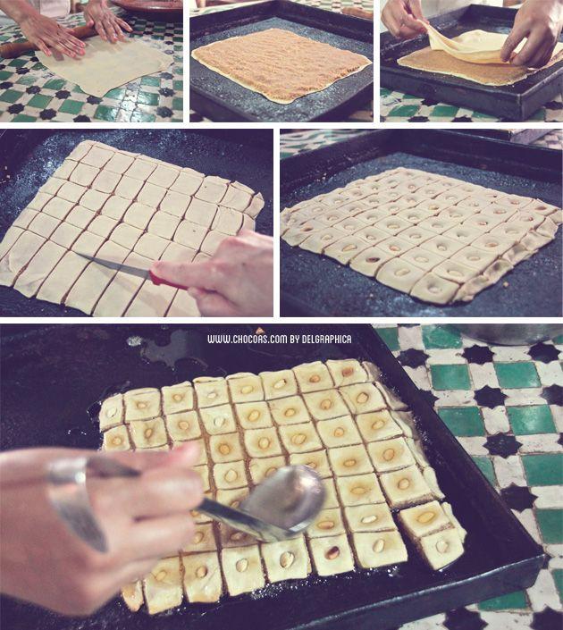 Marrakech taller de cocina - receta baklava de cacahuete