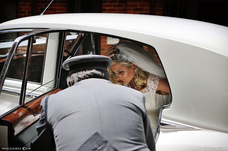 Bride arriving at Stoke Place
