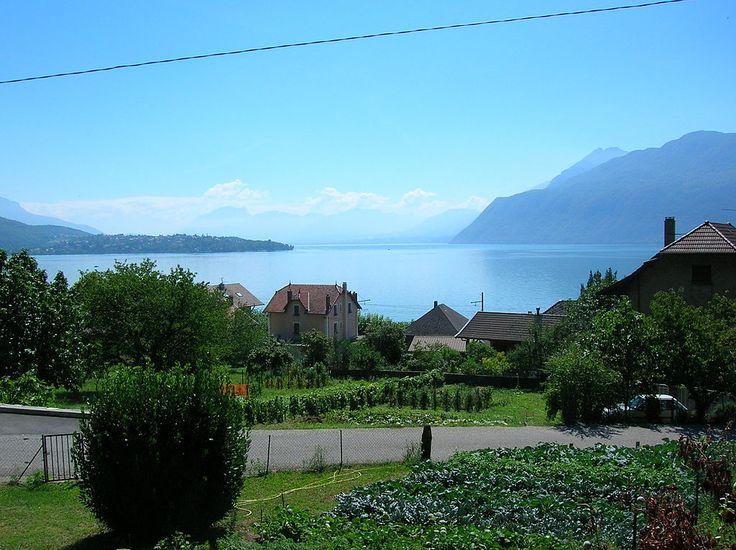 Le Lac du Bourget vu depuis Brison-Saint-Innocent.