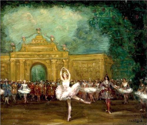 "Russian ballet (Pavlova and Nijinsky in ""Pavillon d'Armide"") - Serge Sudeikin"