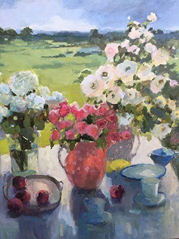 La Vie en Rose by Janette Jones Oil ~ 30 x 36