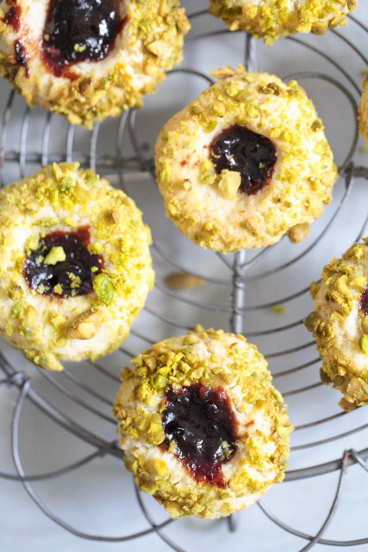 Rezept für Pflaumenmus Kekse mit Pistazien, gefunden auf zuckerzimtundliebe.wordpress.com