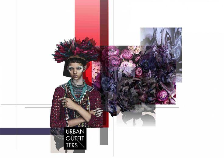 Fashion portfolio inspiration board for Urban Outfitters