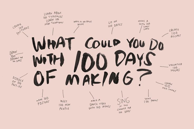 What Could You Do With 100 Days of Making