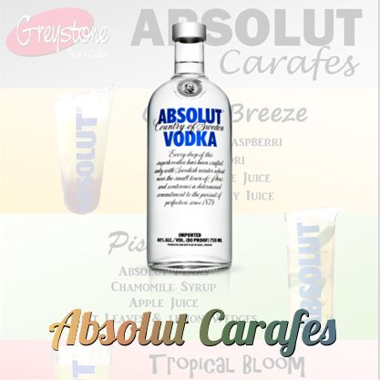 Greystone is now serving Absolut Carafes - the perfect antidote to this balmy weather!