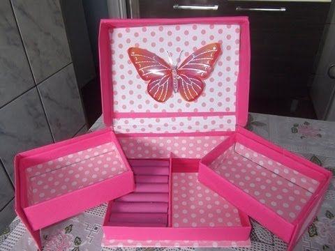 como fazer organizador de maquiagem, anel e acessórios com caixa de sapato