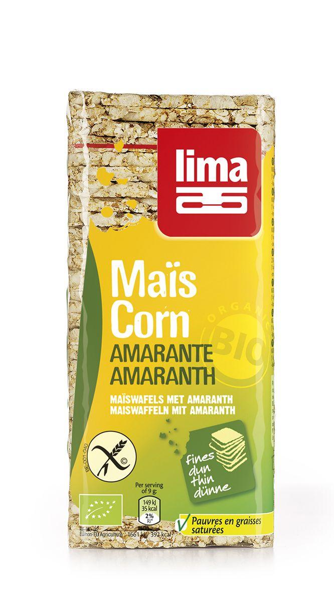 Lima Maiswafels met amaranth 130 gr Bio