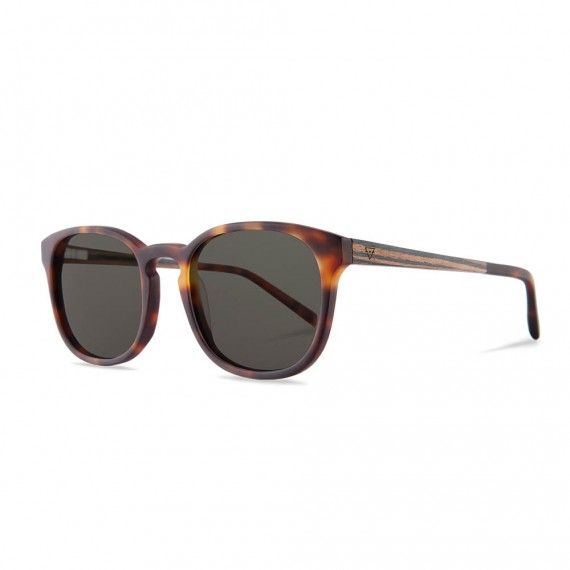 holzbrille alfons light havanna/ebony seite