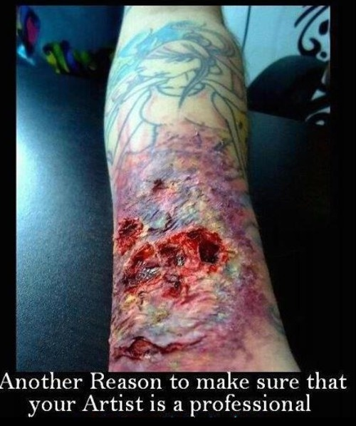 71 best bad ink images on pinterest worst tattoos bad for How to treat an infected tattoo at home