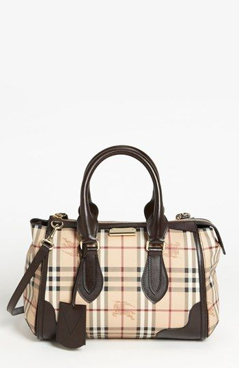 Burberry 'Haymarket Check' Satchel available at #Nordstrom
