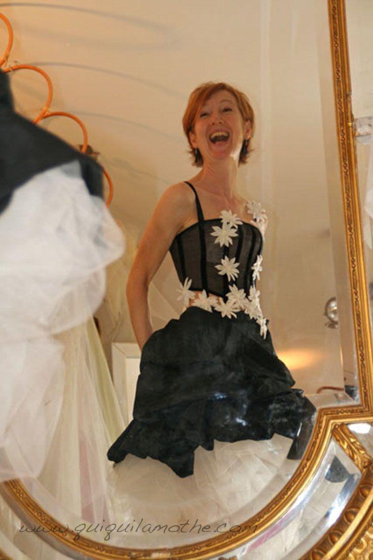 13 best robes de mari e noir et blanc black and white wedding dress images on pinterest white. Black Bedroom Furniture Sets. Home Design Ideas